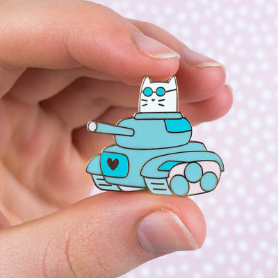 Frank Tank - Cat Enamel Pin
