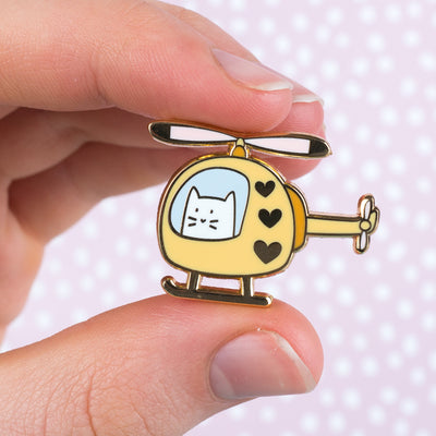 KittyCopter - Cat Enamel Pin