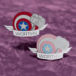 Captain America Worthy hard enamel pin - Avengers