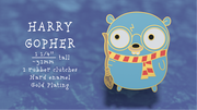 Harry Gopher - Golang Enamel Pin