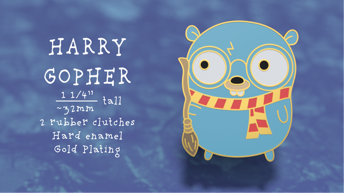 Harry Gopher Pin