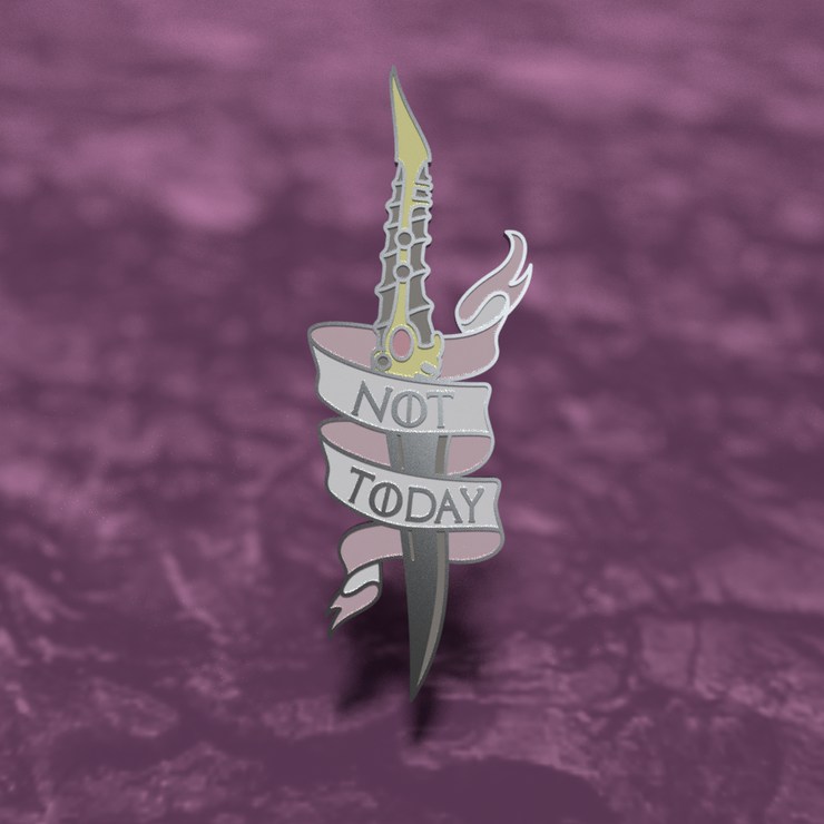 Not Today Catspaw Dagger - Game of Thrones Enamel Pin
