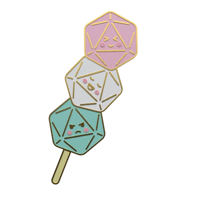 Dango Dice - Dungeons and Dragons Enamel Pin