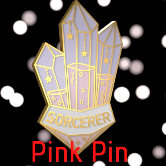 Glass Classes Sorcerer - Dungeons and Dragons Enamel Pin