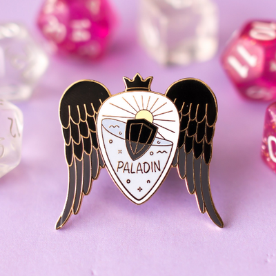 Glass Classes Paladin - Dungeons and Dragons Enamel Pin