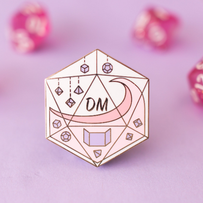 Glass Classes Dungeon Master - Dungeons and Dragons Enamel Pin