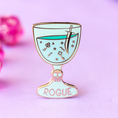 Glass Classes Rogue - Dungeons and Dragons Enamel Pin