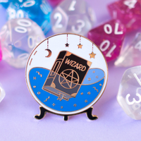 Glass Classes Wizard Pin