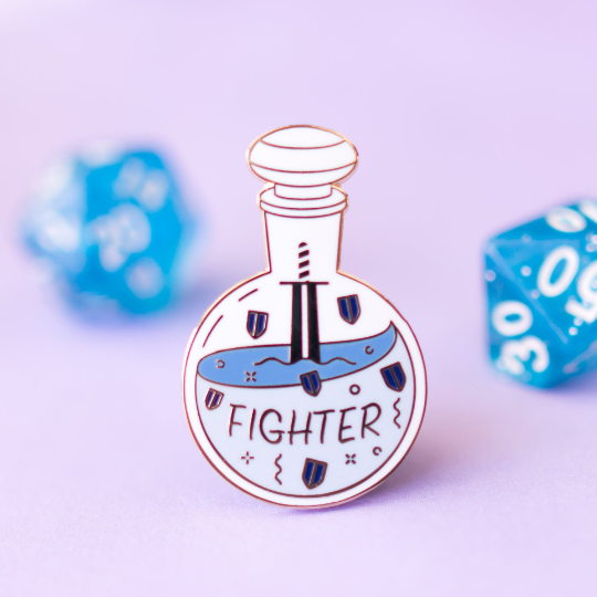 Glass Classes Fighter Pin