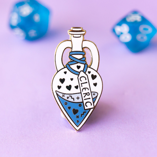 Glass Classes Cleric - Dungeons and Dragons Enamel Pin