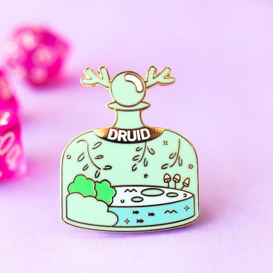 Glass Classes Druid Pin