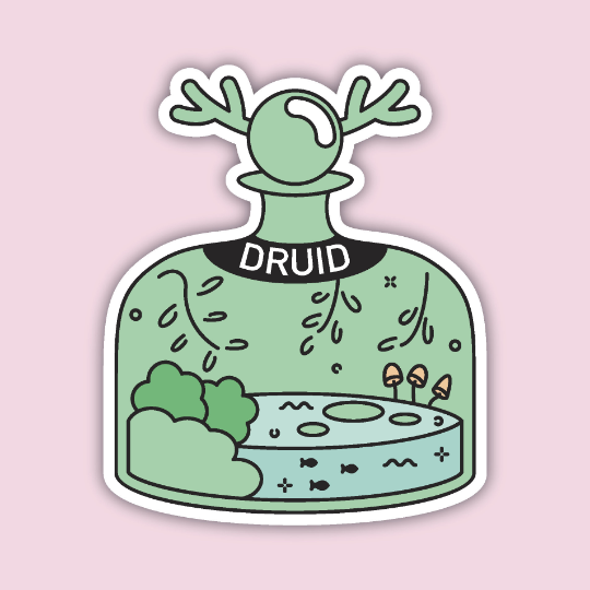 Glass Classes Druid Sticker