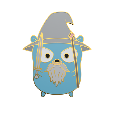 Gandalf the Gopher - Go Gopher Enamel Pin