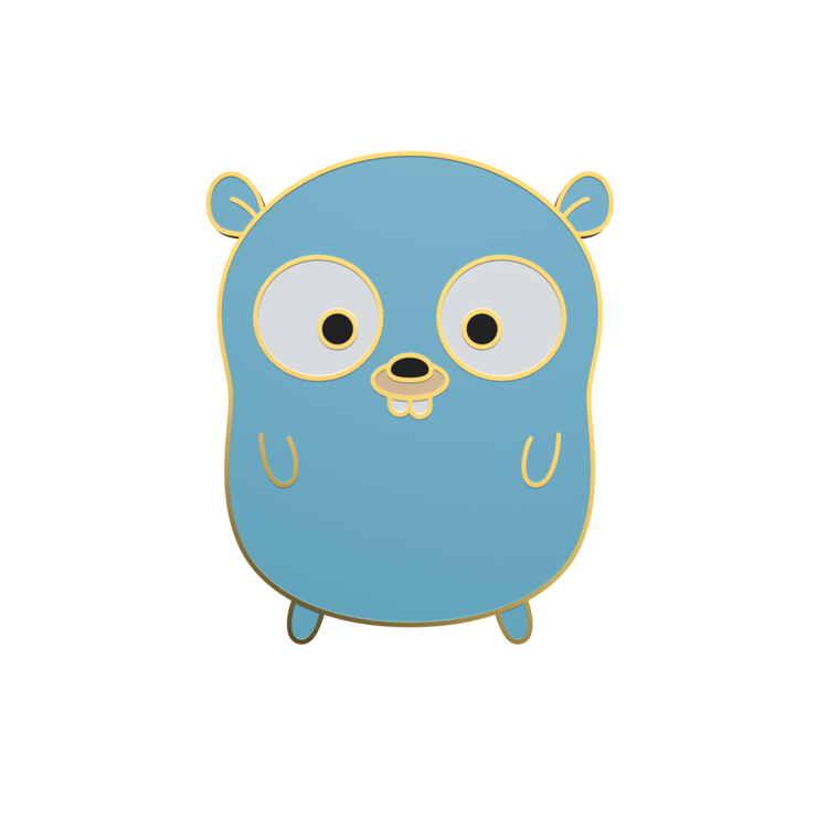 Greg the Gopher - Golang Enamel Pin