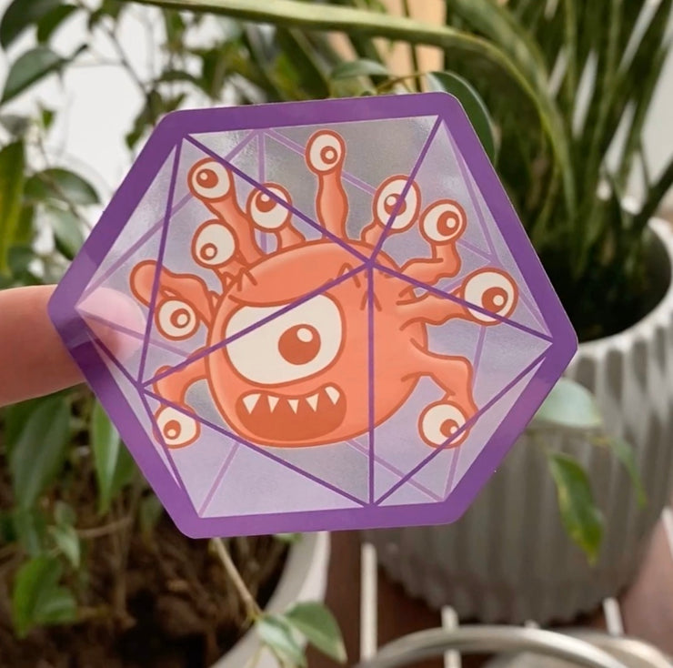 Beholder Transparent Sticker