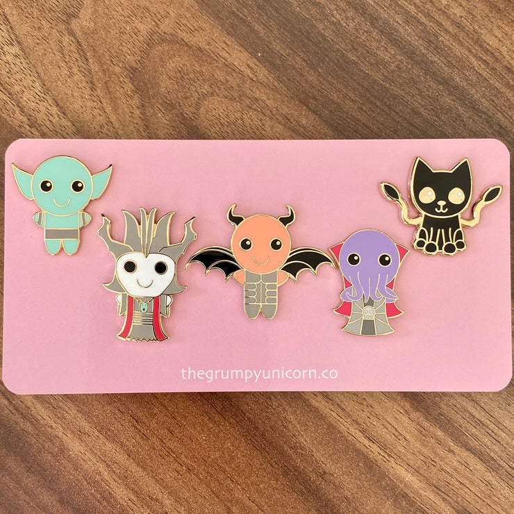 Kawaii D&D Monster Pin Pack