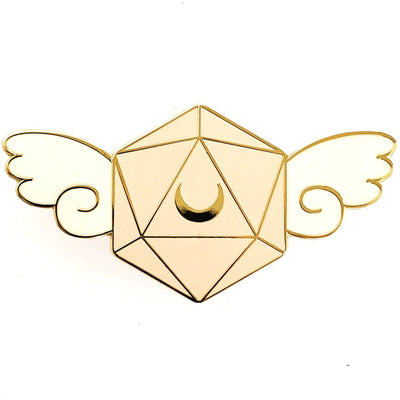Winged D20 Pin