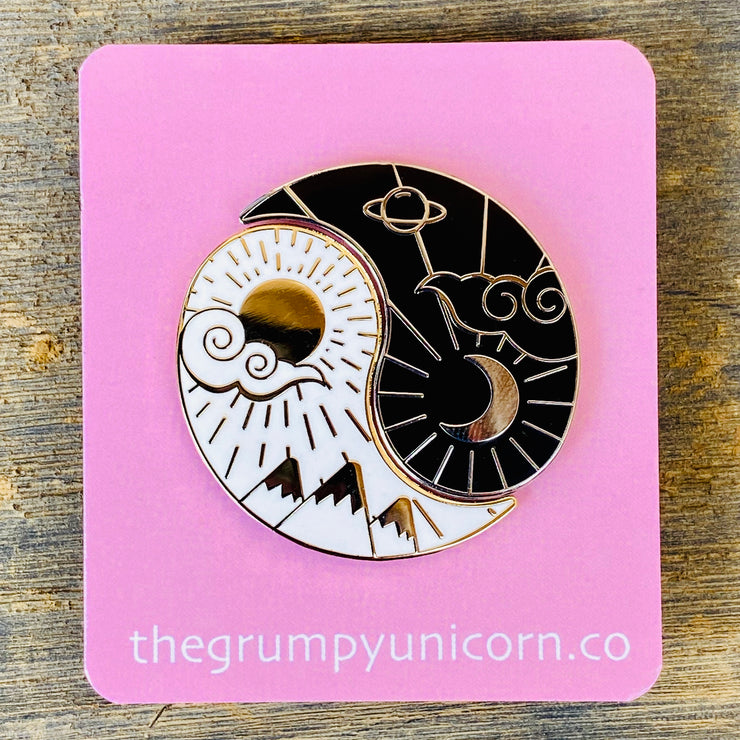 Night & Day - Yin & Yang Enamel Pin Pack