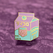 Dice Juice Box - Dungeons and Dragons Enamel Pin