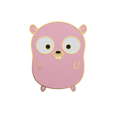 Pink Golang Gopher - Go Gopher Enamel Pin