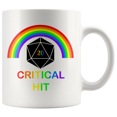 Rainbow Critical Hit Dice Mug