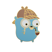Sherlock Gopher - Golang Enamel Pin