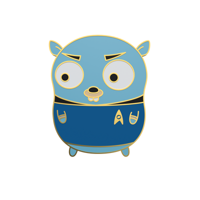 Spock Gopher - Golang Enamel Pin
