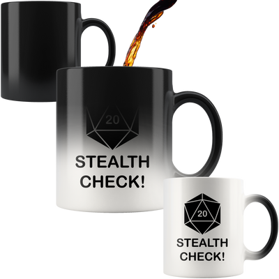 Stealth Check! Color Changing Mug
