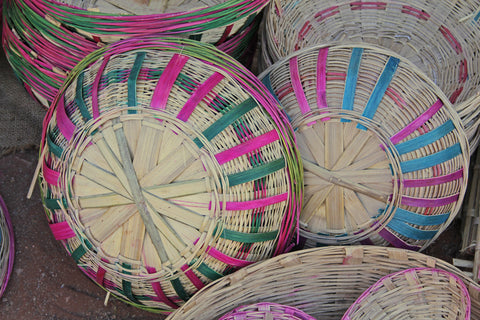 Colorful Indian baskets