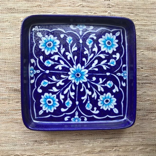 Handcrafted Rajasthani Square Pottery Tray