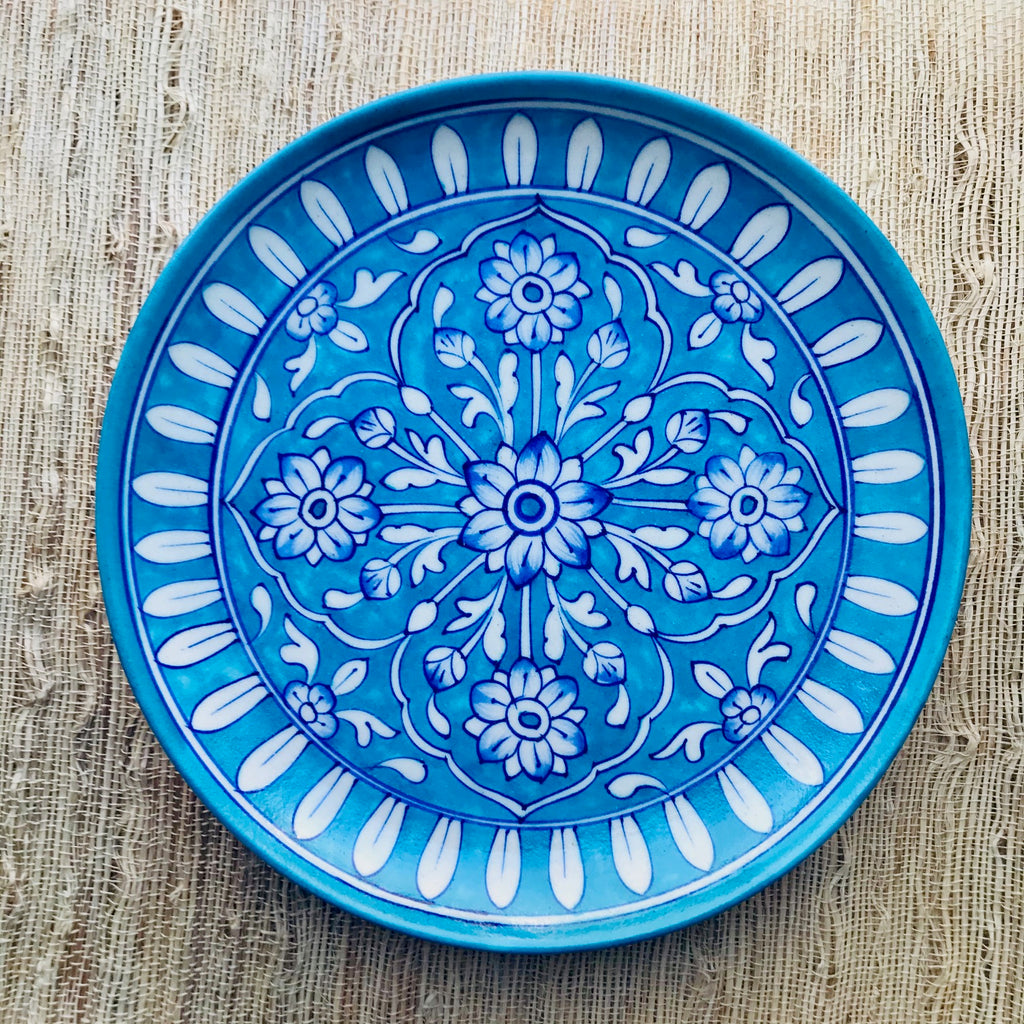 Handcrafted Rajasthani Round Pottery Plate
