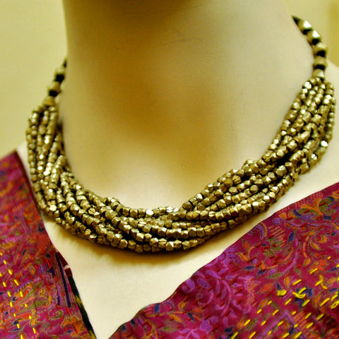 Dhokra Multi-String Necklace