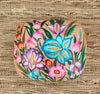 Multi-Color Floral Paper Mache Jewelry and Trinket Box