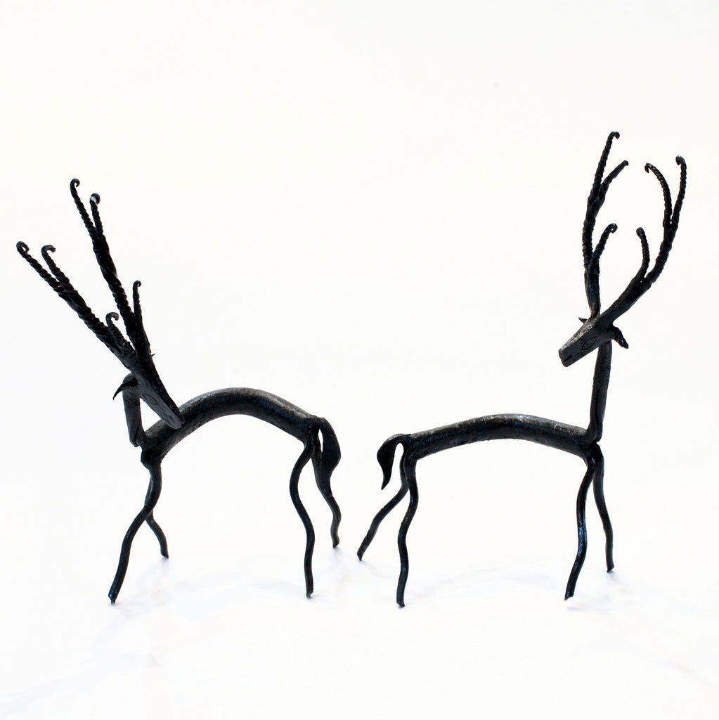 Tribal art metal deer