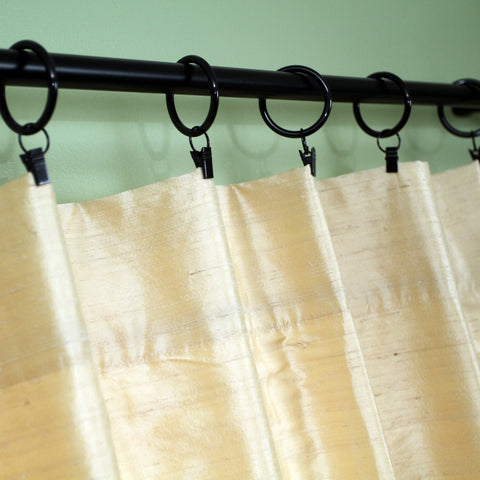 Cream Dupioni Silk Curtains