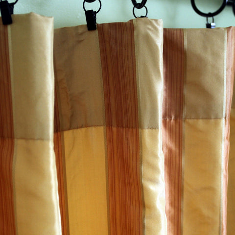 Pencil Striped Silk Curtains
