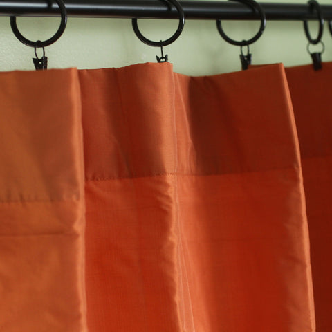 Orange Silk Curtains