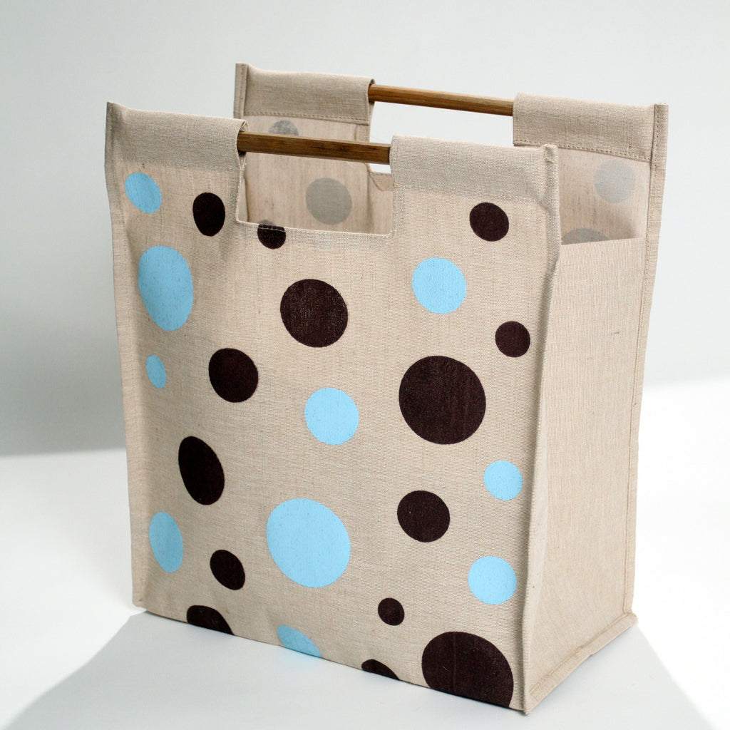 Polka dot tote bag