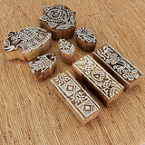 Hand Carved Wooden Printing Stamps