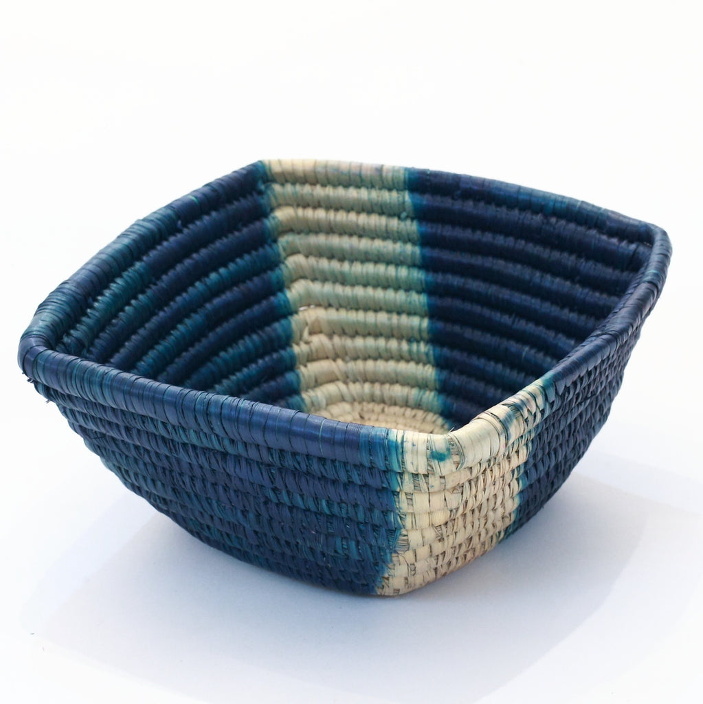 Square Woven Grass Basket