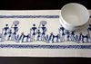 Blue and White Block Print Table Runner