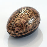 Black and Gold Egg-Shaped Paper Mache Box