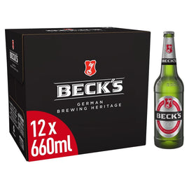 Beck's German Pilsner Beer Bottle 12 x 660ml