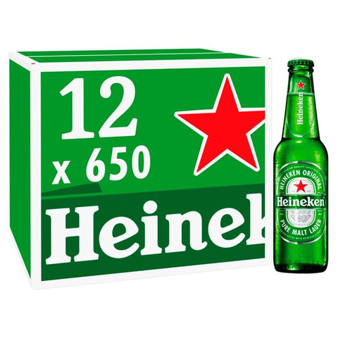 Heineken Lager 12 x 650ml Bottle