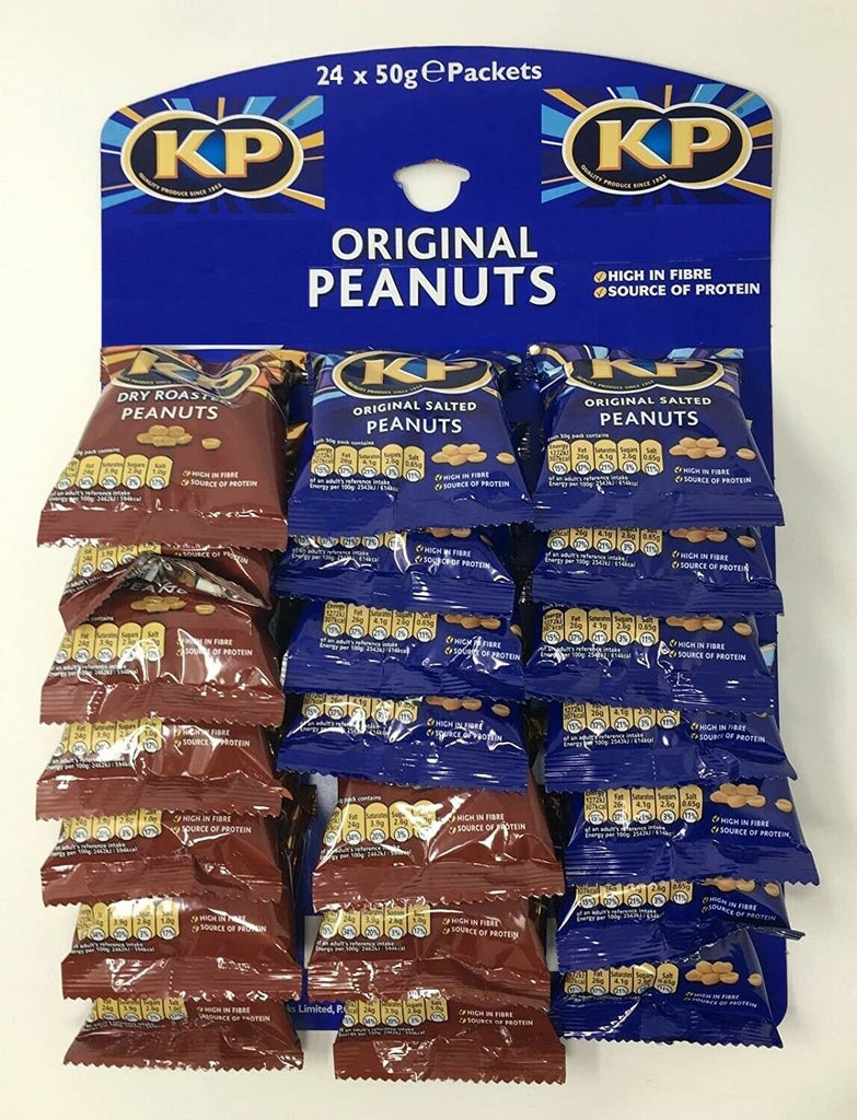 KP Nuts Mixed Original Salted & Dry Roasted Card 24x50g
