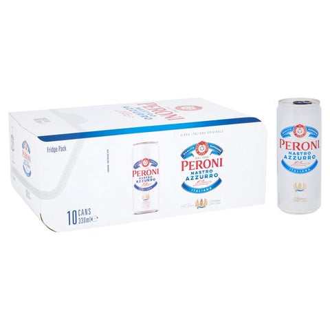 Peroni Nastro Azzurro Beer Can 10 x 330ml