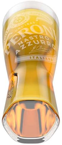 Peroni Toughened Pint Glass Embossed and Nucleated 20oz / 568ml
