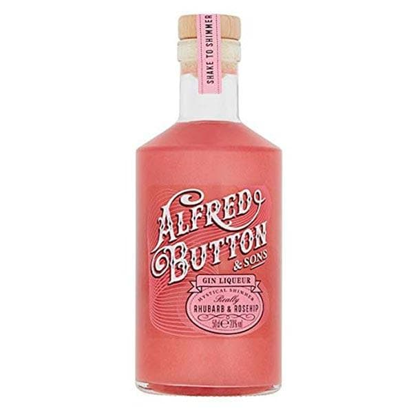 Alfred Button & Sons Gin Liqueur Really Rhubarb & Rosehip 50cl