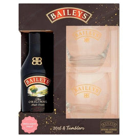Baileys Original Cream Liqueur 20Cl & Tumbler Gift Set