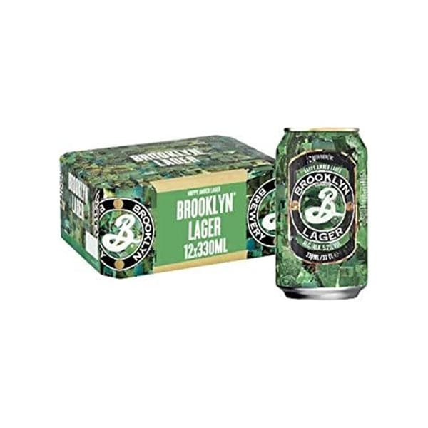 Brooklyn Lager Beer Cans 12x330 ml